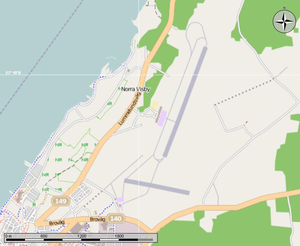 Visby Airport - Map of the airport in Visby.