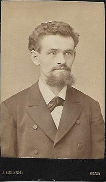 Visitkarte Eines Jungen Mannes Fotograf Sebastian August Knoll Bozen Ca 1890 Mit Visitformat Oder Carte De Visite
