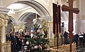 Vladimir Putin at Christmas service at the Church of Simeon and Anna (St. Petersburg; 2018-01-07) 10.jpg