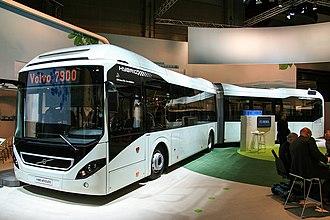 Volvo B5LH - Volvo 7900A Hybrid-bodied B5LAH at Busworld Kortrijk 2013.