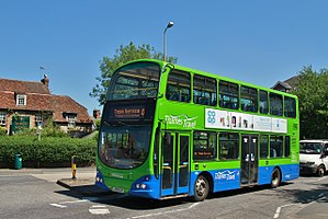 Thames Travel - A Volvo B7TL bus with Wright Eclipse Gemini body on route 41 in Abingdon in May 2017