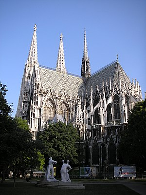Votive Church, Vienna - Votivkirche seen from the back