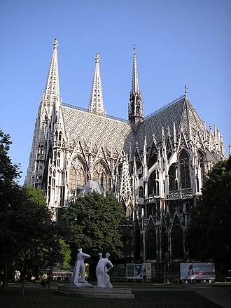 Votivkirche, Vienna - Votivkirche seen from the back