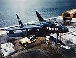 Vought F7U-1 Cutlass at Naval Air Station Patuxent River, cira 1950 (NH 101812-KN).jpg