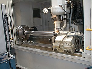 Hobbing - A horizontal hobbing machine