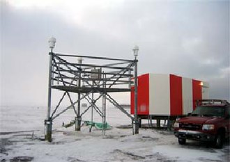 Wide Area Augmentation System - WAAS reference station in Barrow, Alaska