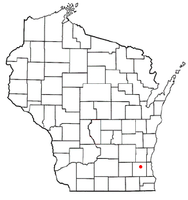 Location of Pewaukee (village), Wisconsin