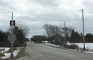 Wisconsin Highway 142 - WIS 142 in rural Kenosha County