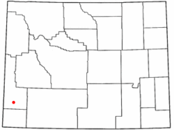 Location of Etna, Wyoming