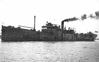 Petroleum Warfare Department - RFA War Nawab, one of the ships involved in Operation Lucid.