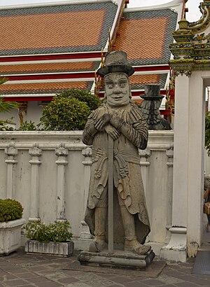 Farang - Farang statue in Wat Pho, Bangkok, Thailand