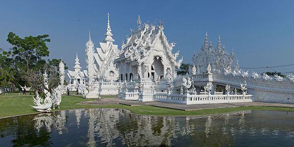 Vihara Rong Khun (Wat Rong Khun), Chiang Rai, Thailand.