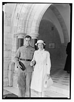 Wedding at St. George's Cathedral on June 3rd, 1942. Bride & groom, close-up LOC matpc.14215.jpg