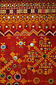 Wedding shawl (odhani), Barmer, Rajasthan, India, view 2, mid 20th century, cotton, silk, glass mirrors.JPG