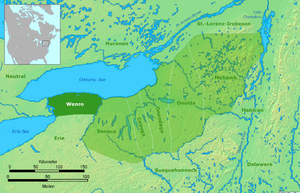 Wenrohronon - Image: Wenro Territorium um 1630
