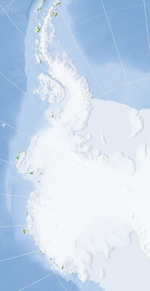West Antarctica - Almost blank map of West Antarctica