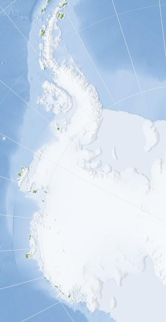West Antarctica - Almost blank map of West Antarctica