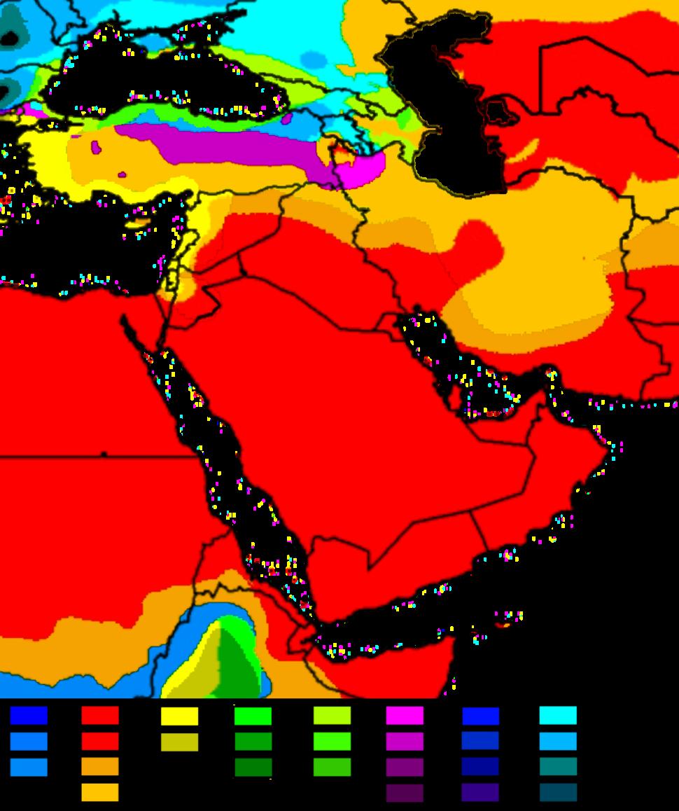 West Asia Köppen Map