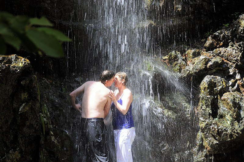 Showering couples video