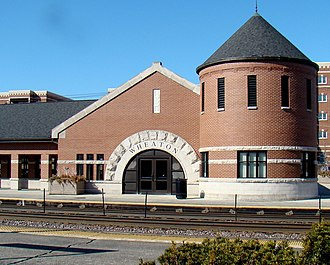 Wheaton station (Illinois) - The station building