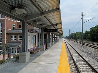 Massachusetts Bay Transportation Authority - Wickford Junction station in North Kingstown, Rhode Island opened in April 2012