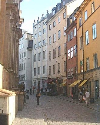 Trångsund, Stockholm - Viewed from Storkyrkobrinken.