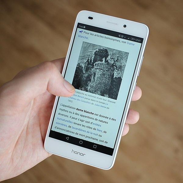 Wikipédia en français sur mobile android (cropped).jpg