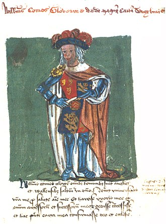 William Fitz Robert, 2nd Earl of Gloucester - Image: William 2nd Earl Of Gloucester Presents Great Charter To Tewkesbury Abbey