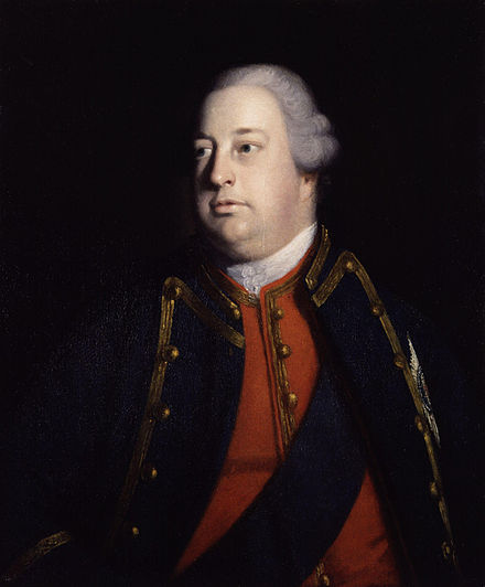 "George said his son Prince William, Duke of Cumberland (pictured), had ""ruined me and disgraced himself"" at the Convention of Klosterzeven, 1757. William Augustus, Duke of Cumberland by Sir Joshua Reynolds.jpg"