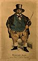 William Ball, a man weighing forty stone. Colour lithograph. Wellcome V0006972.jpg