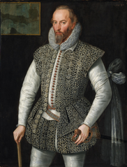 Portrait of Sir Walter Raleigh (1522-1618), Soldier and Historian