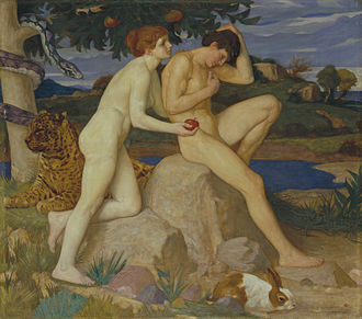 William Strang - The Temptation, 1899, Tate Gallery.