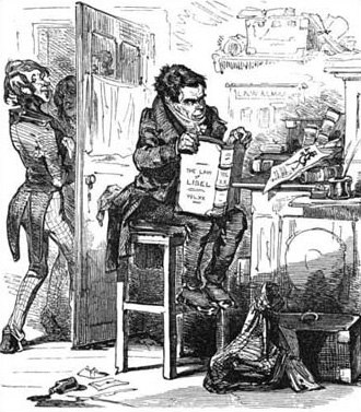 General strike - William Benbow pictured in Punch in 1848.