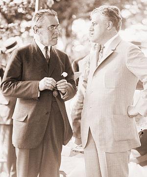 A. Mitchell Palmer - President Woodrow Wilson with Attorney General, Mitchell Palmer