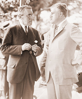 A. Mitchell Palmer - President Woodrow Wilson with Attorney General, Mitchell Palmer