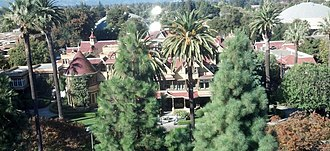 Winchester Mystery House - A view of the Winchester Mystery House from a highrise building to the south.