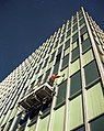 Window washer, Seattle City Light Building, 1968.jpg
