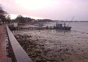 Windwatt - A windwatt that appeared in Eckernförde as a result of Cyclone Xaver