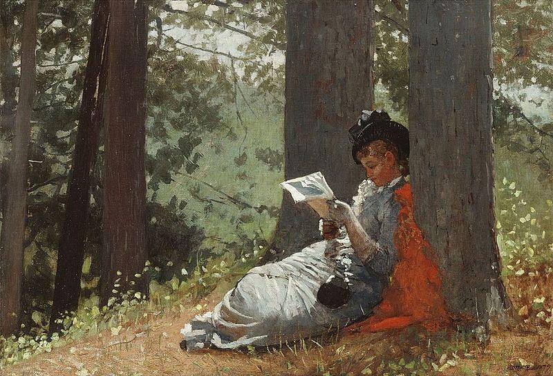 File:Winslow Homer - Girl Reading Under an Oak Tree (1879).jpg