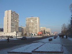 Oktyabrsky Avenue in winter