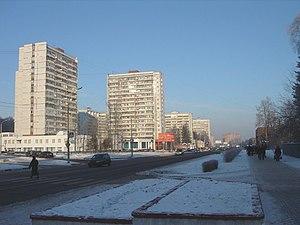 Troitsk, Moscow - Oktyabrsky Avenue in wintertime