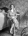 Woman, portrait, interior, furniture, rocking chair Fortepan 5374.jpg