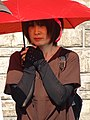 Woman with Red Umbrella - Kyoto - Japan (47929407756).jpg