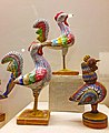 Wooden bird toys at Odisha Crafts Museum, Bhubaneswar, Odisha, India 01.jpg