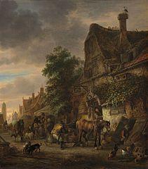 Workmen before an Inn
