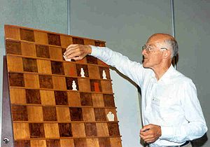 Glossary of chess - Wouter Mees at a demonstration board