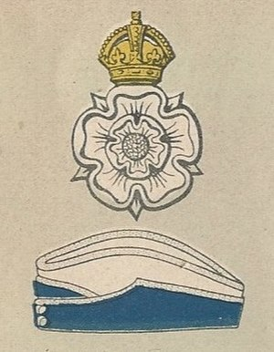 Queen's Own Yorkshire Dragoons - Badge and service cap as worn at the outbreak of World War II