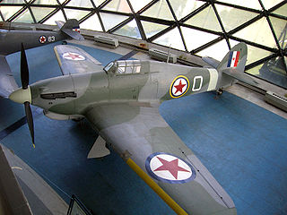 Hawker Hurricane in Yugoslav service air vehicle