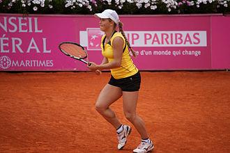 Yulia Putintseva - Yulia Putintseva at the 2012 Open GDF Suez de Cagnes-sur-Mer