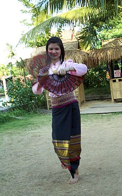 A Tai woman in Yunnan, belonging to one of the many ethnic minorities of the province.